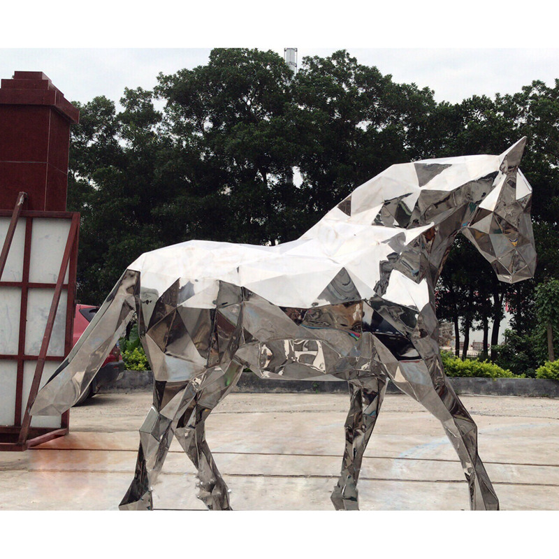 Landscape Garden Decoration Large Stainless Steel Animal Horse head sculpture