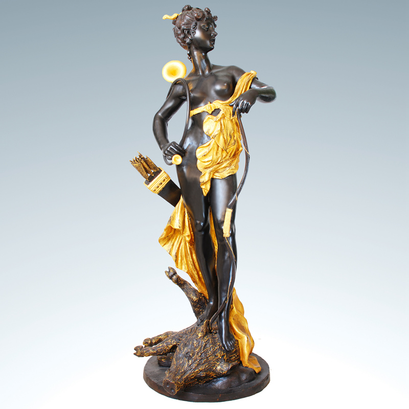 Bronze Woman Metal Abstract Decoration Sculpture