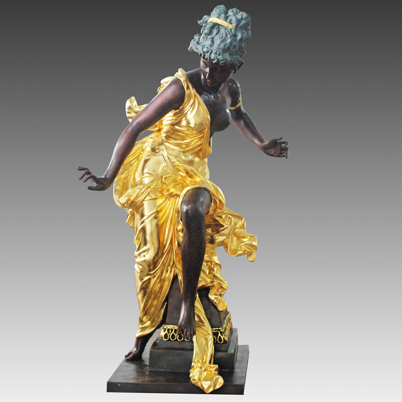 Bronze Beautiful Woman Lady Bronze Sculpture