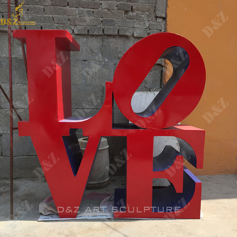 Large Stainless Steel Polished Love Sculpture NYC