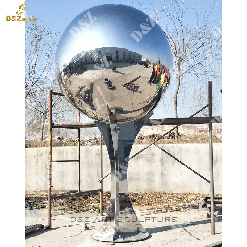 Outdoor Stainless Steel Mirror Ball Sculpture