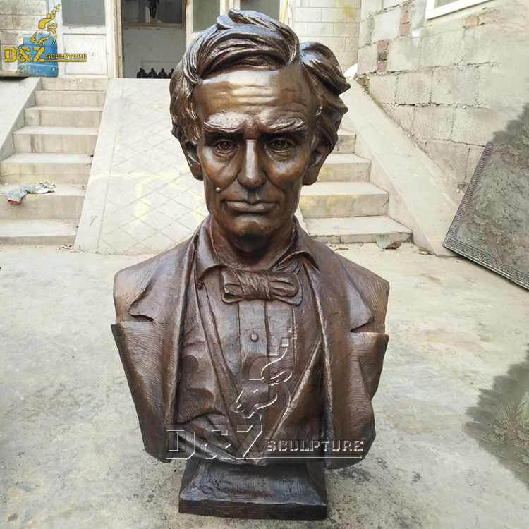 Bust of abraham lincoln head statue for sale