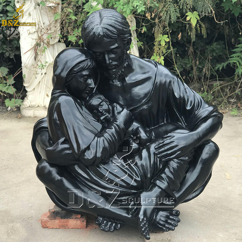 a quiet moment holy family statue