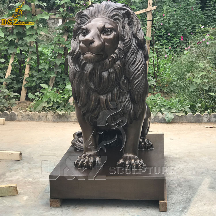 black lion statue home decor for front porch