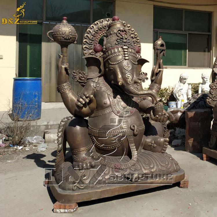 bronze lord ganesh statue