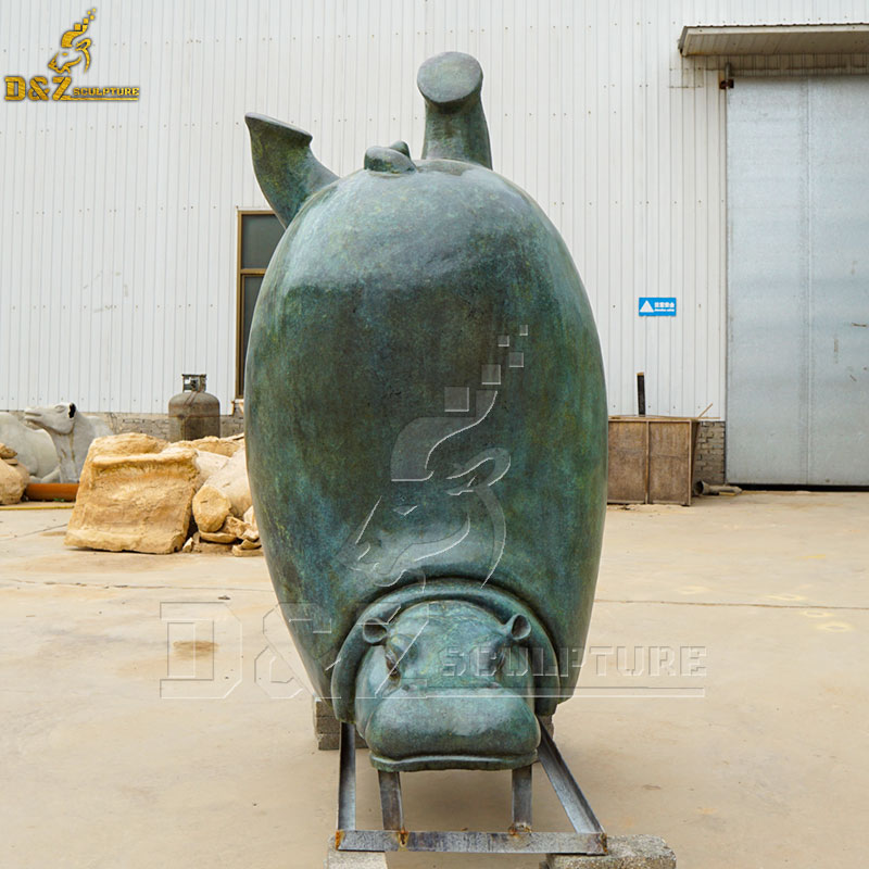 large hippo garden statue for sale