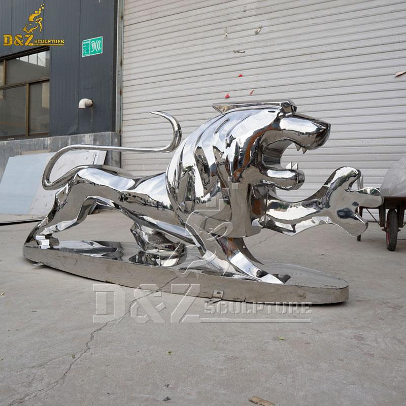 outdoor life size metal lion sculpture for sale