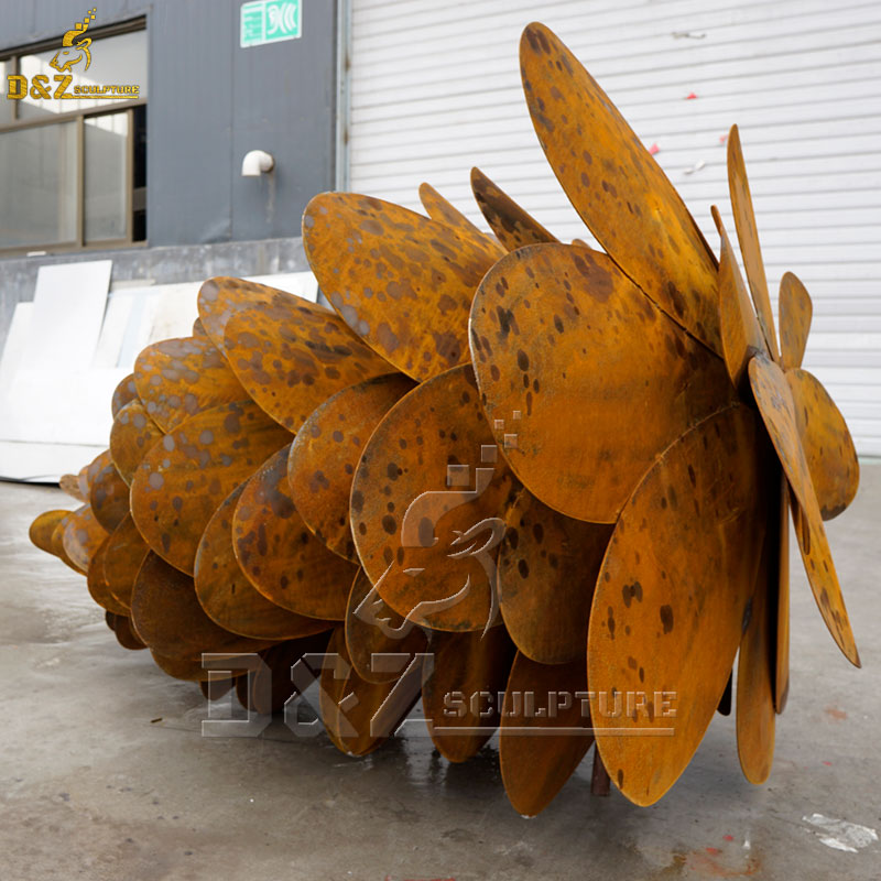 large metal pine cone sculptures for sale