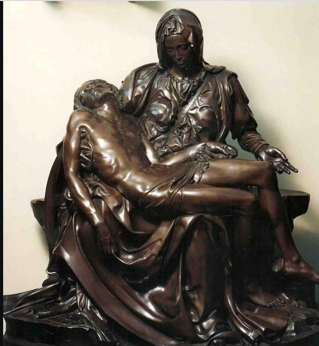 The bronze Pieta bronze sculpture