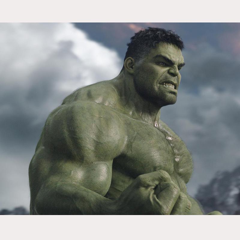 hulk life size statue