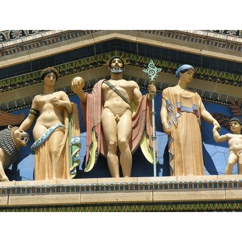 Greek statues with color