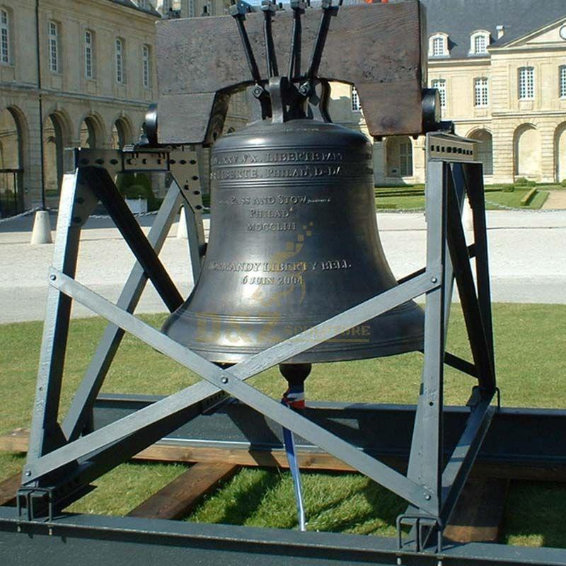 Custom made cast bronze Bell with rose