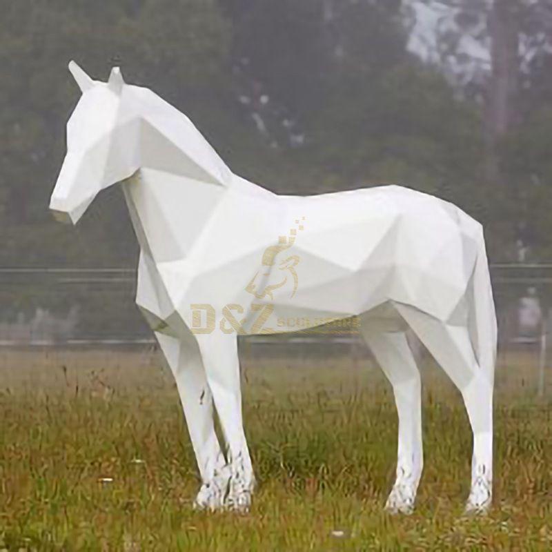 Outdoor Garden Decoration Life Size Metal Horse Sculpture