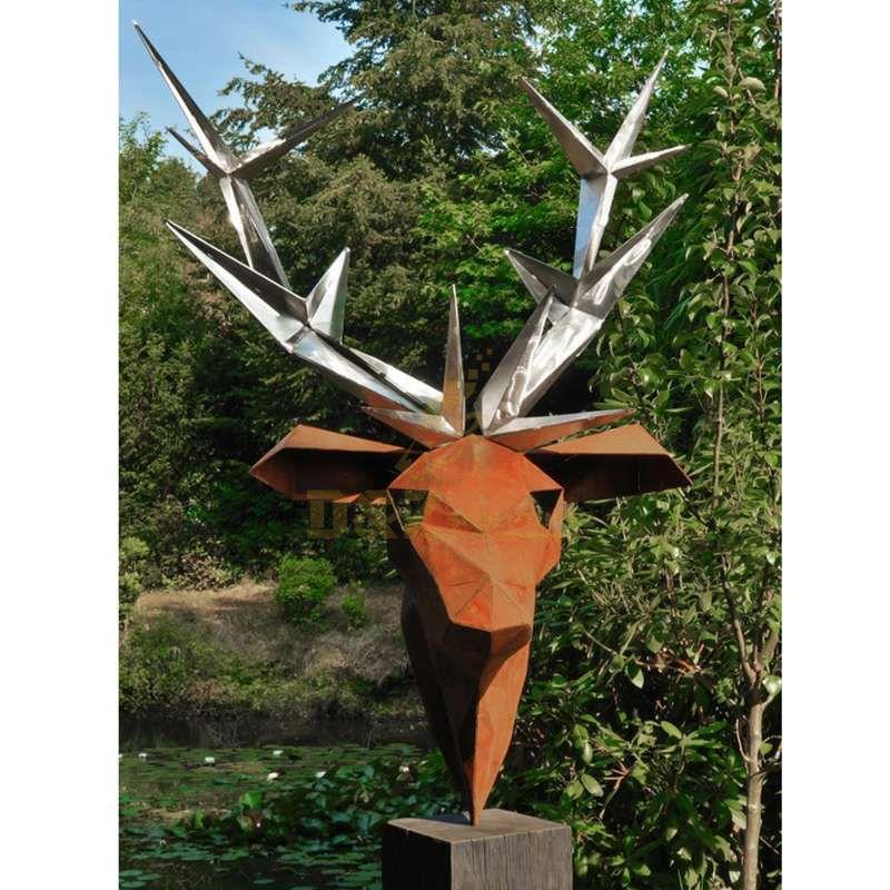Large Deer Metal Garden Sculpture