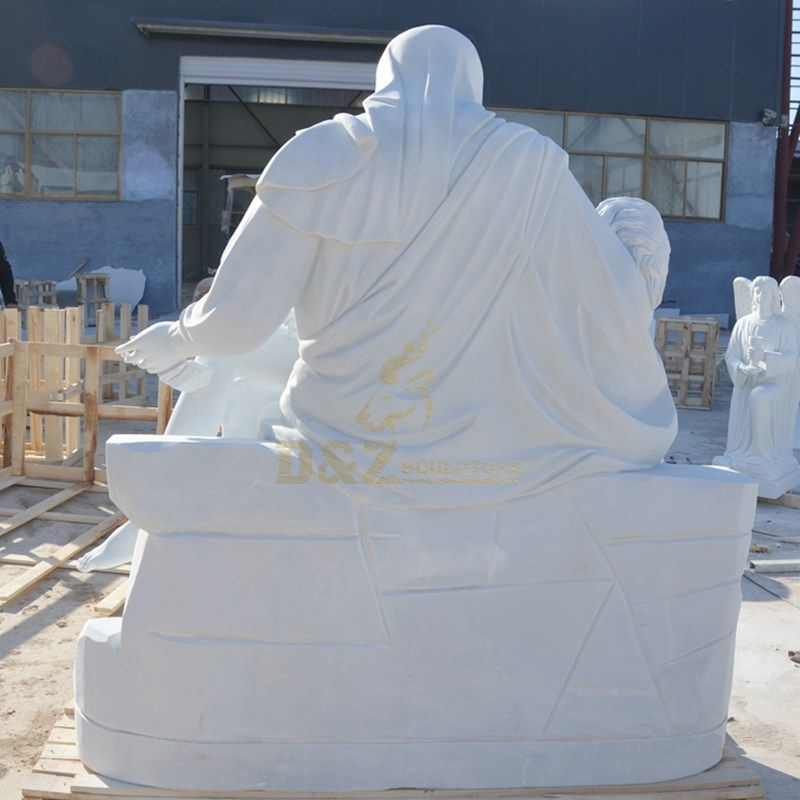 Life Size Marble Virgin Mary Jesus Statues
