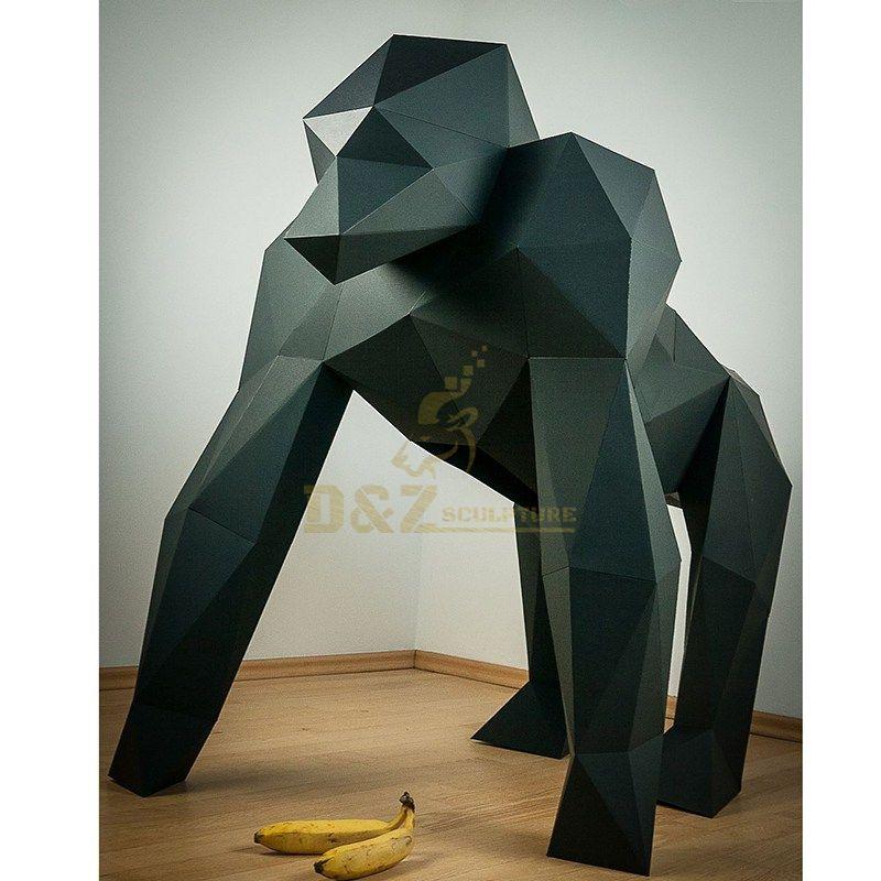 Stainless Steel Gorilla Sculpture