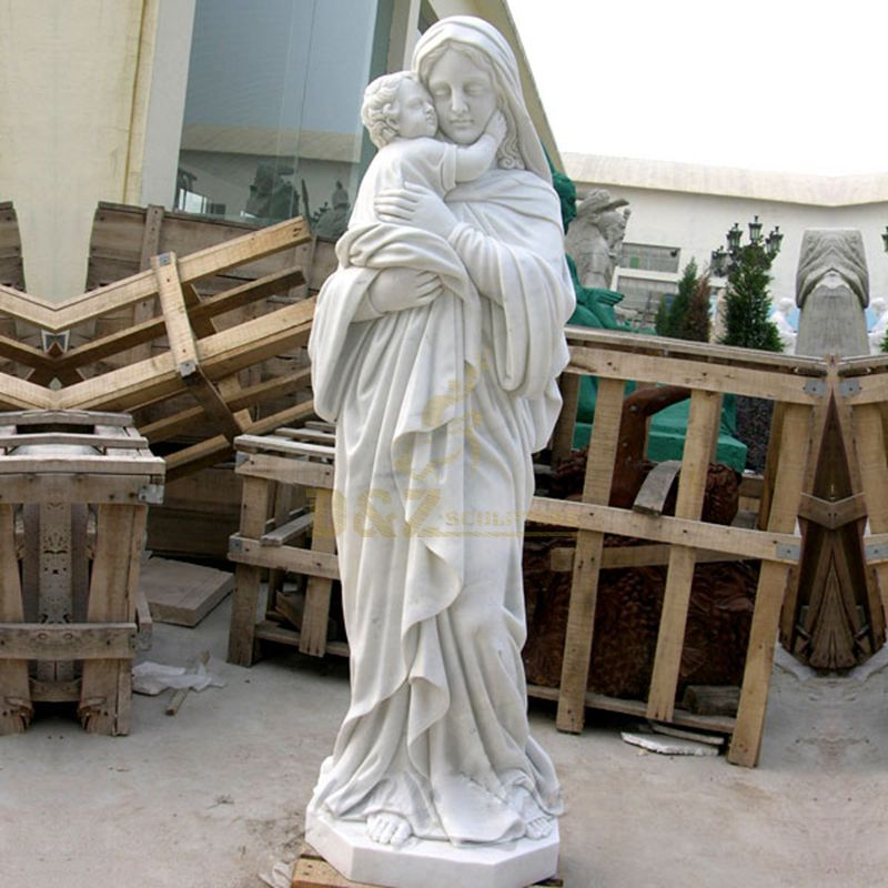 Virgin Mary Holding Baby Jesus Statue