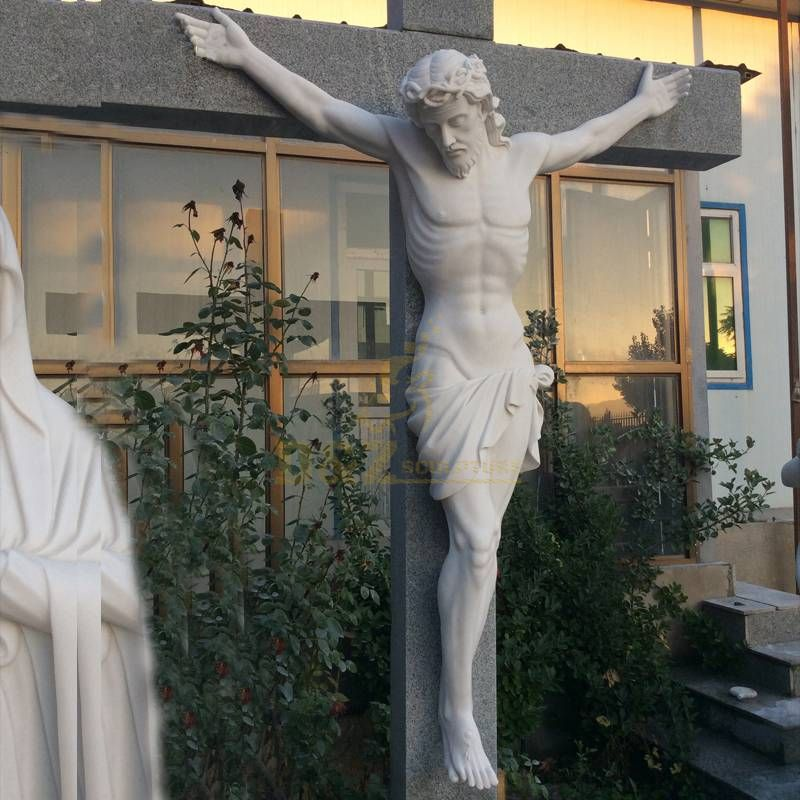 Famous Stone Jesus Statue With Cross