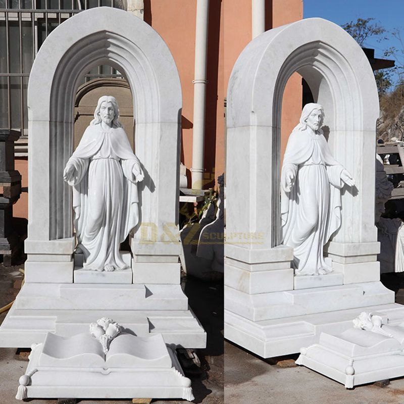 Church Decoration Religious Life Size Marble Jesus Statue