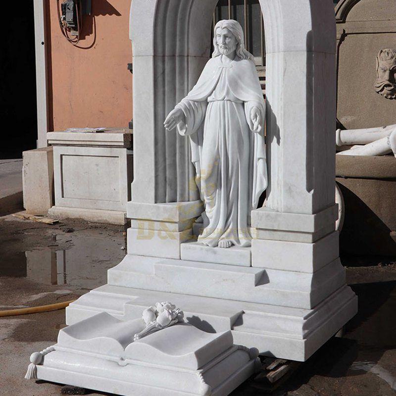 Church Decoration Religious Life Size Marble Jesus Statue