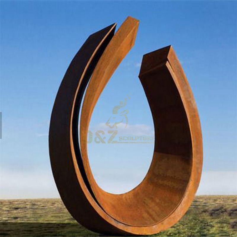 Large Garden Metal Corten Steel Abstract Sculpture