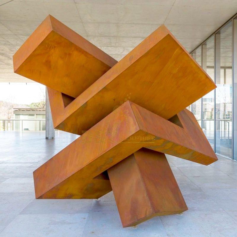 High Quality Garden Decorative Corten Steel Sculpture