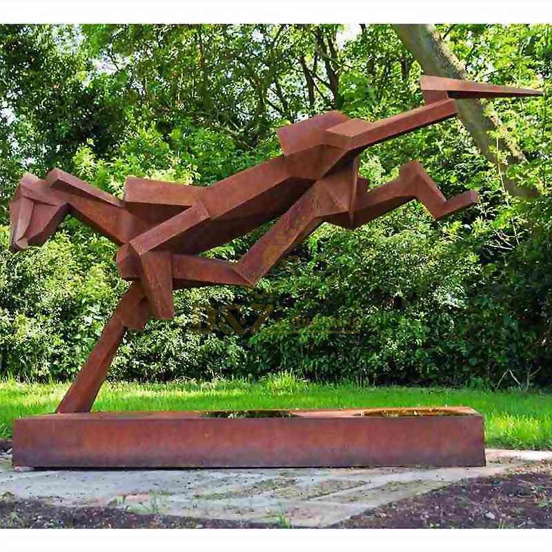 Corten Steel Sculpture For Rust Abstract Animals Sculpture