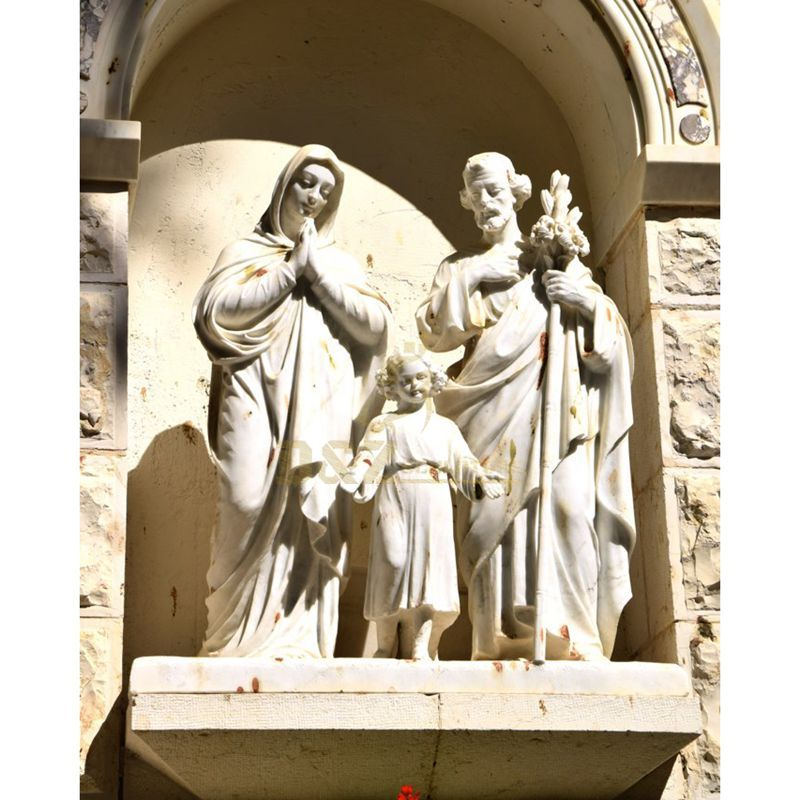 Religious Stone Marble Holy Family Statues
