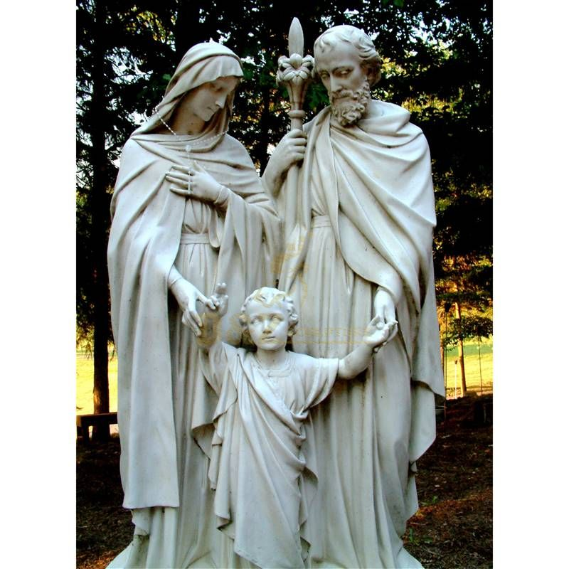 Outdoor Marble Holy Family Statue