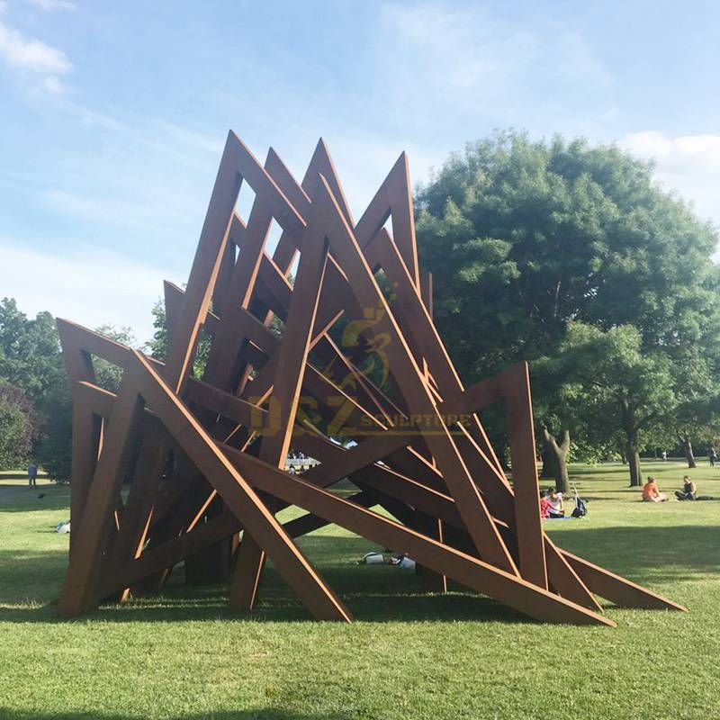 New Design corten Welding Grass Steel Rusty Sculpture