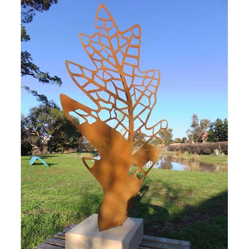 Unique Outdoor Hollow Design Corten Steel Sculpture