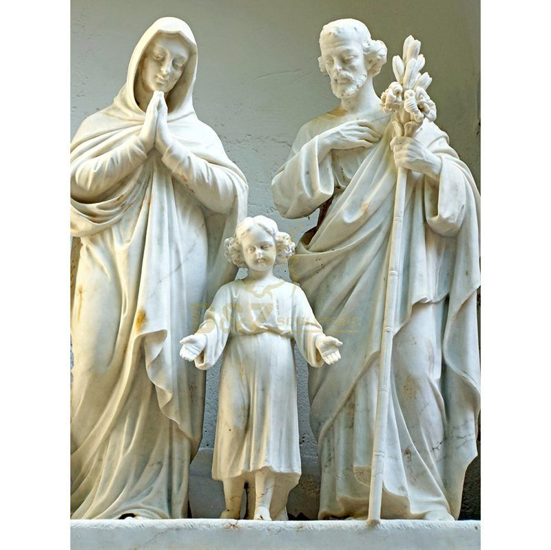 High Quality Natural Stone Holy Family Statue