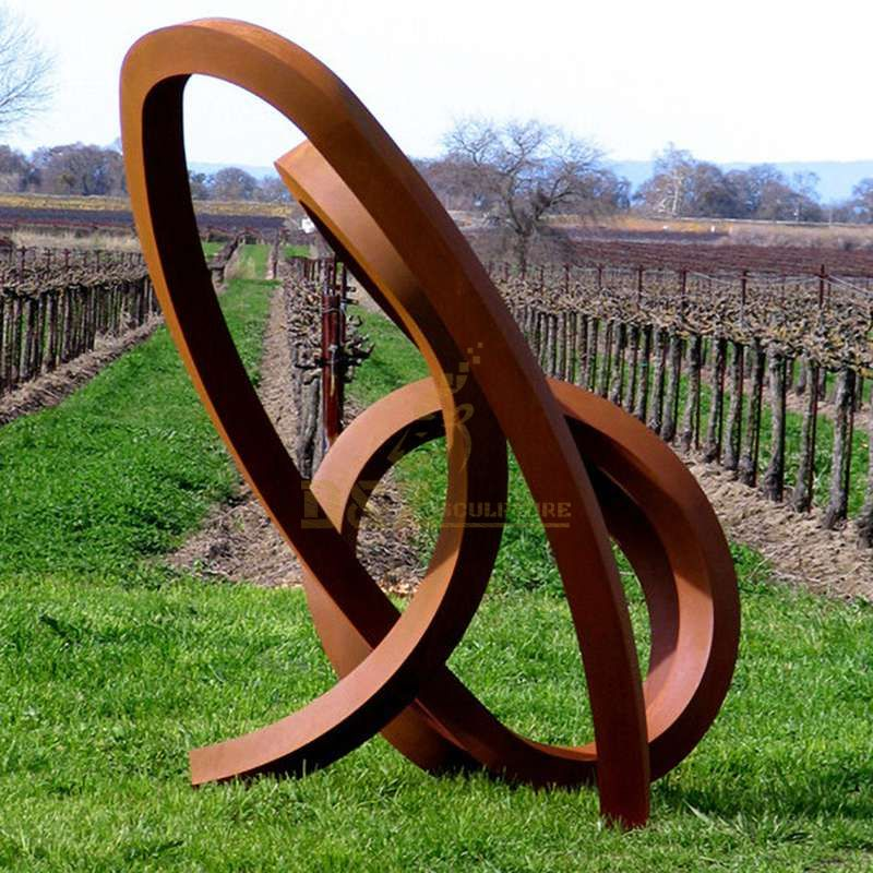 Outdoor Large Size corten steel garden art Metal Sculpture