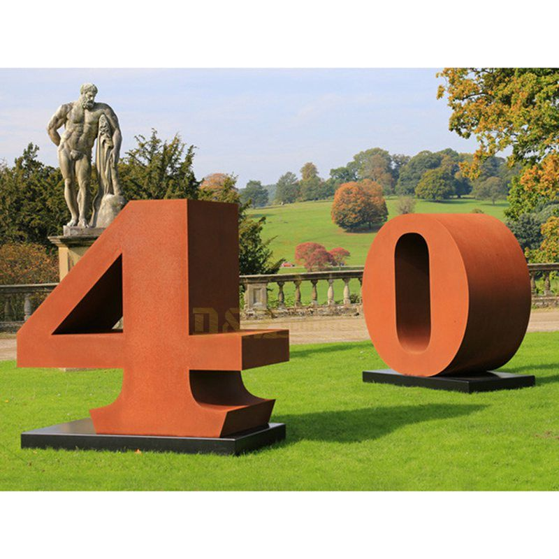 Outdoor Decorative Corten Steel Large Letter Sculpture