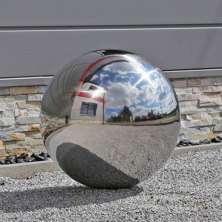 Large Decor Apple Sculpture Landscape Stainless Steel Sculpture Outdoor
