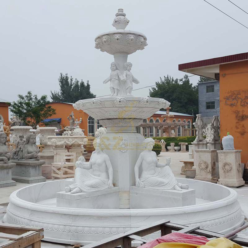 Customized Outdoor Marble Water Fountains