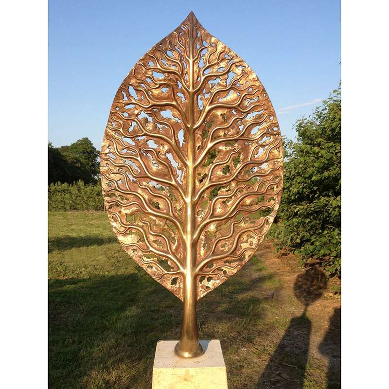 Modern Abstract Leaf Metal Art Corten Steel Sculpture