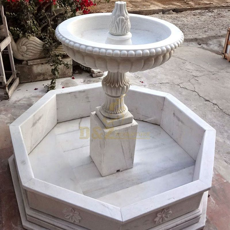 European Style Garden Multitier Limetone Waterfall Stone Fountain