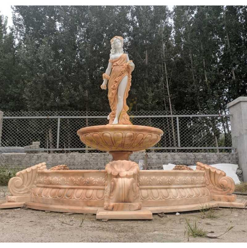 Beautiful Natural Marble Statue Fountain On Sale