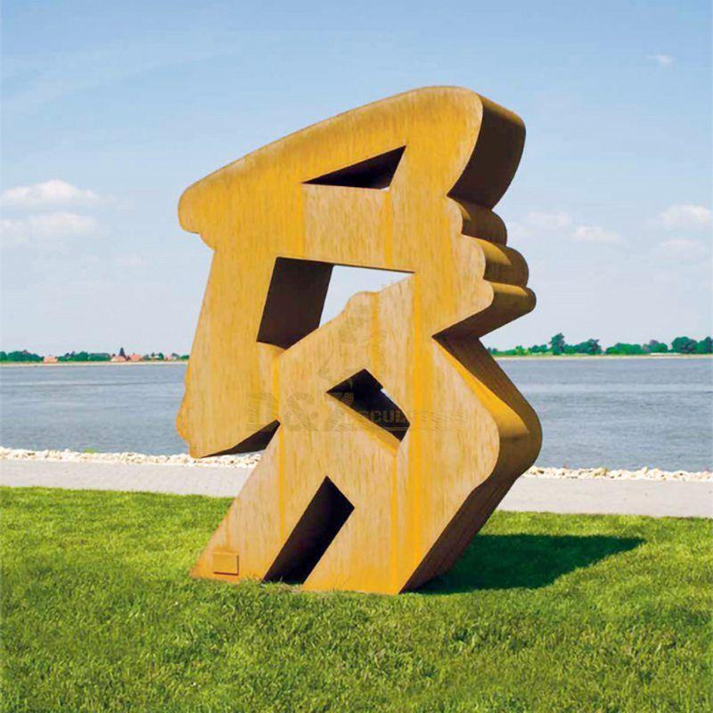 Modern Abstract Corten Steel Art Sculpture Metal Decoration
