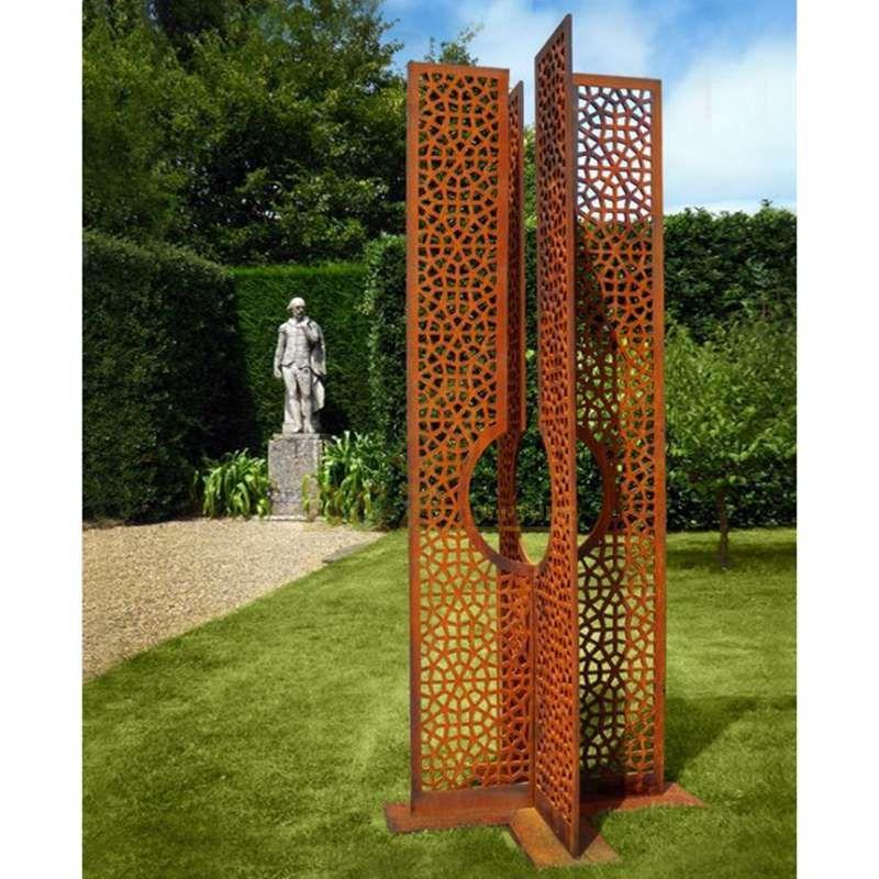 Metal Corten Steel Hollow Screen Garden Sculpture