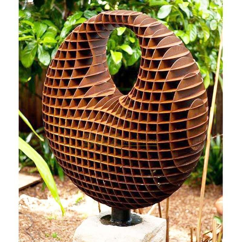 Large Art Craft Corten Steel Garden honeycomb Metal Sculpture