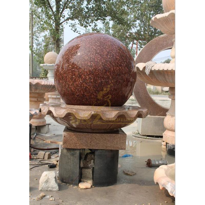 Stone Fengshui Sphere Floating Ball Fountain
