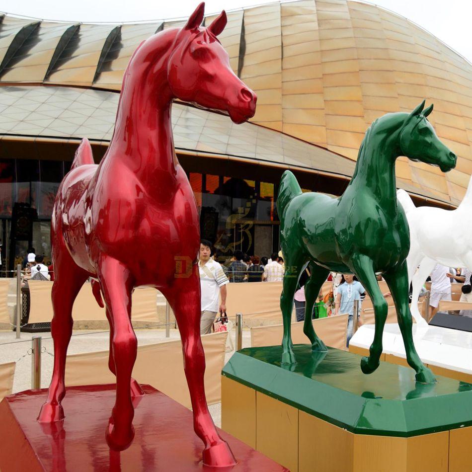 Colorful fiberglass large camel sculpture
