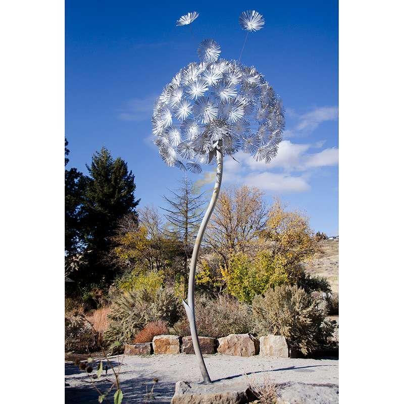 New Outdoor Metal Stainless Steel Dandelion Garden Sculpture