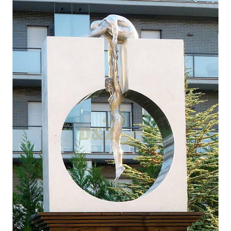 Metal Art Stainless Steel Urban Figures Sculpture