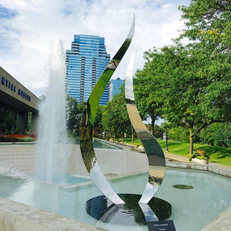 Modern Abstract Stainless Steel Sculpture For Garden Decoration