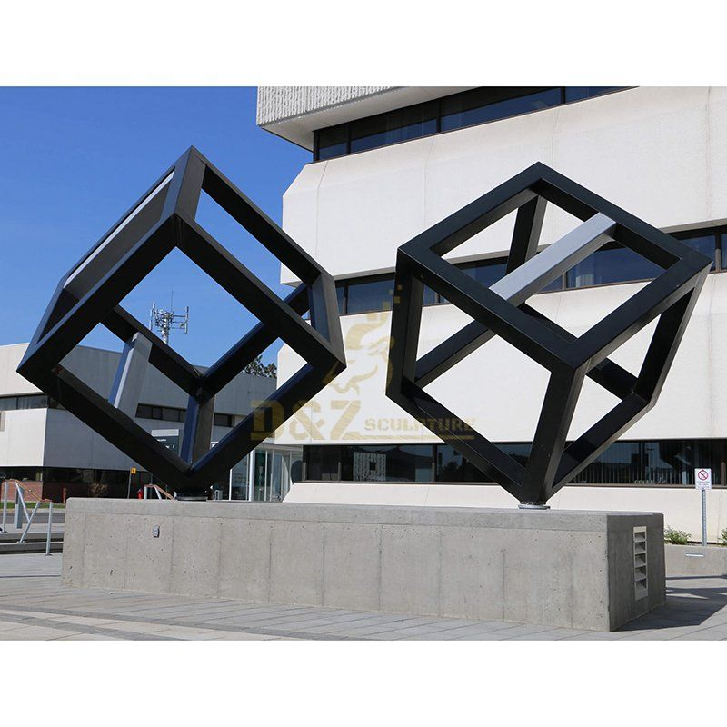 Geometric Metal Stainless Steel Modern Sculpture