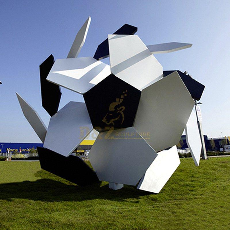outdoor metal garden art wholesale football sculpture