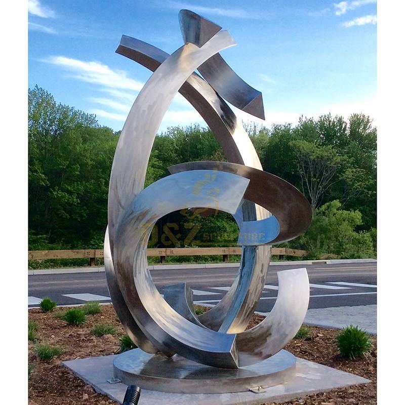 Modern Large Urban Stainless Steel Sculpture